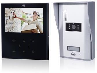 Deurintercom flat-line - Zwart/mir - Smartwares